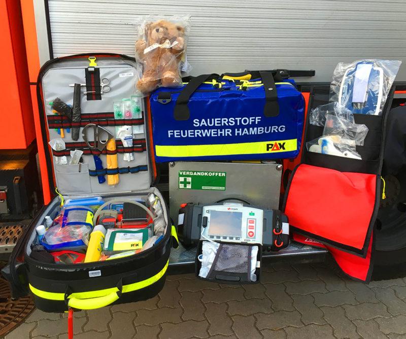 Unser Equipment für die Erstversorgung